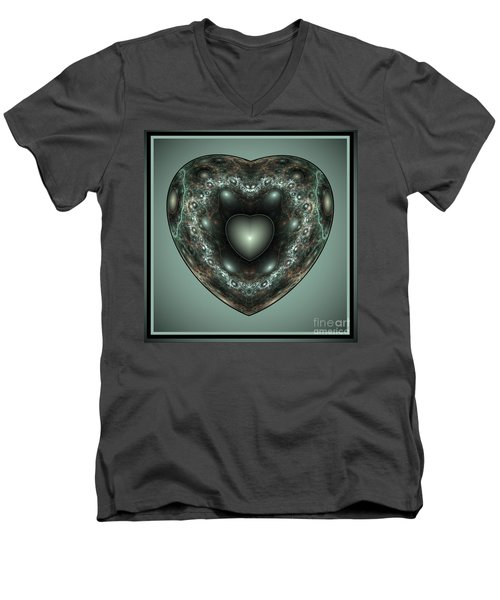 Jewel Heart Men's V-Neck T-Shirt