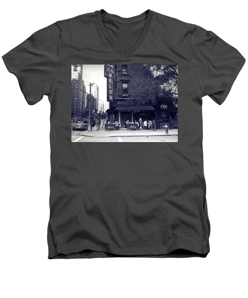 J.g. Melon - Manhattan  Men's V-Neck T-Shirt by Madeline Ellis