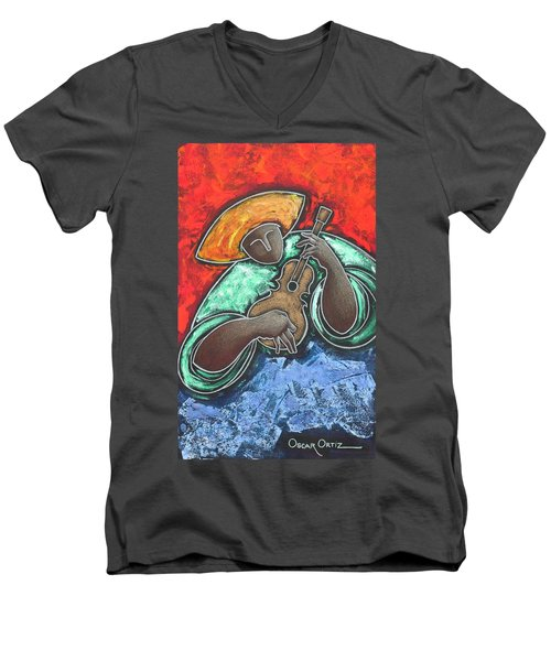 Jibaro Encendi'o Men's V-Neck T-Shirt