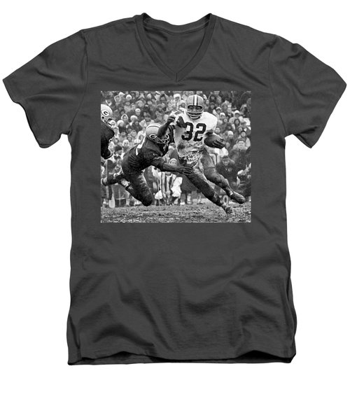 Jim Brown #32 Men's V-Neck T-Shirt