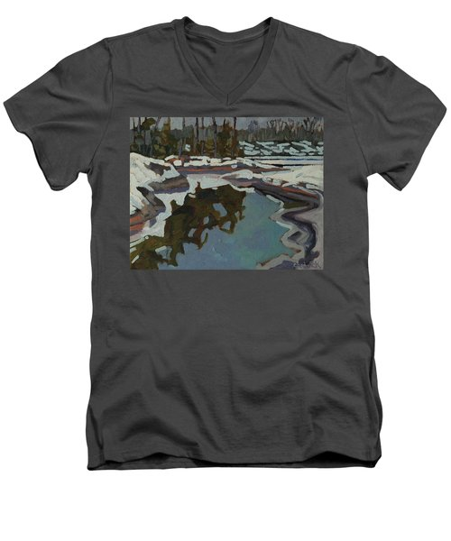 Jim Day Reflections Men's V-Neck T-Shirt