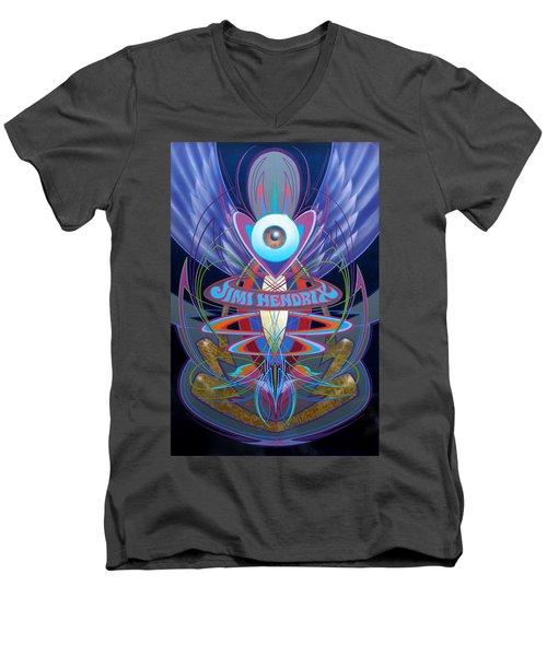 Jimi Hendrix Memorial Men's V-Neck T-Shirt
