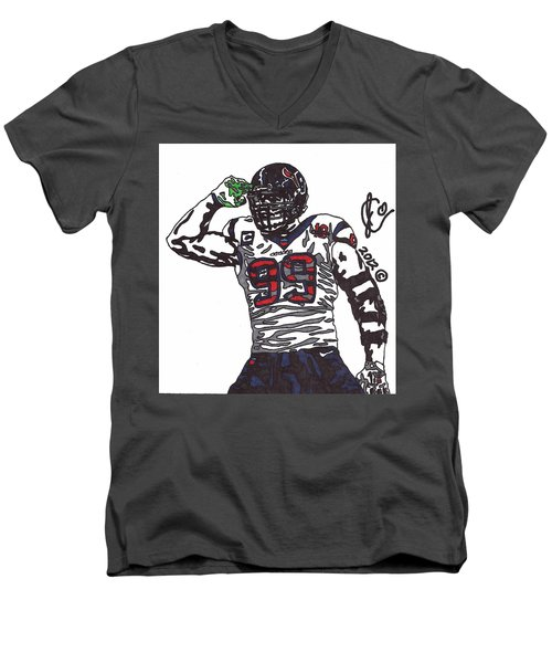 Jj Watt 1 Men's V-Neck T-Shirt
