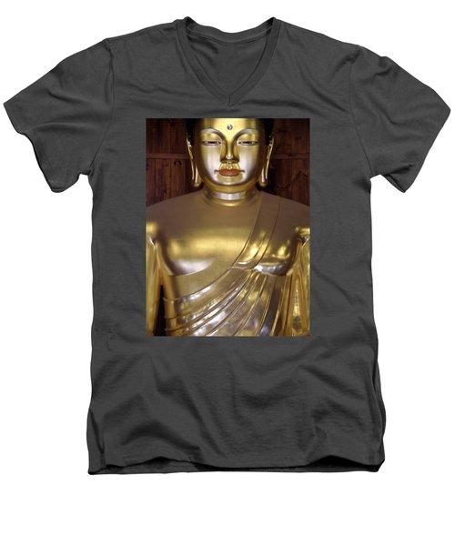 Jogyesa Buddha Men's V-Neck T-Shirt