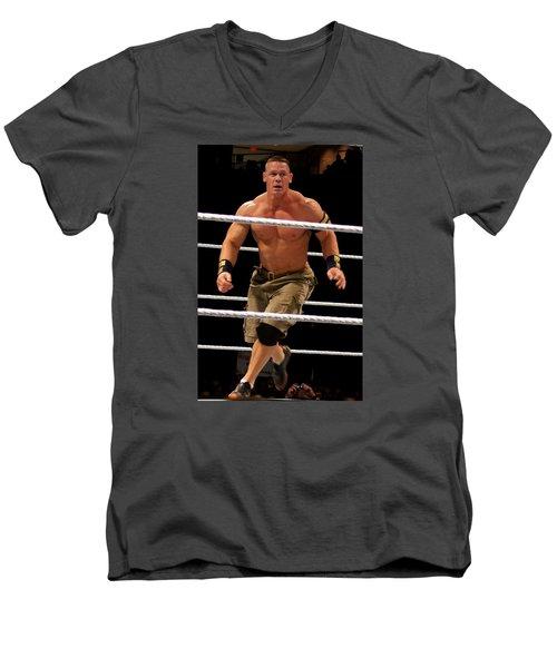 John Cena In Action Men's V-Neck T-Shirt