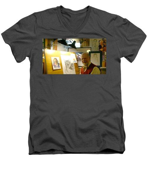 John D Benson Men's V-Neck T-Shirt by Charles Kraus