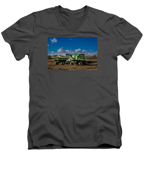 John Deere Combine 9770 Men's V-Neck T-Shirt