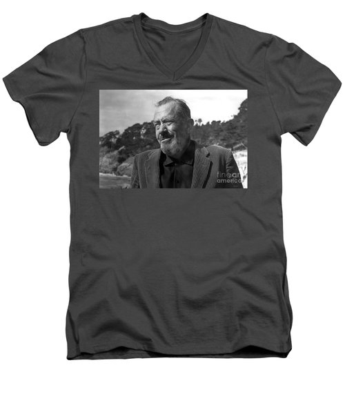John Steinbeck Pebble Beach, Monterey, California 1960 Men's V-Neck T-Shirt