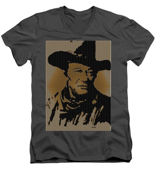 John Wayne Lives Men's V-Neck T-Shirt