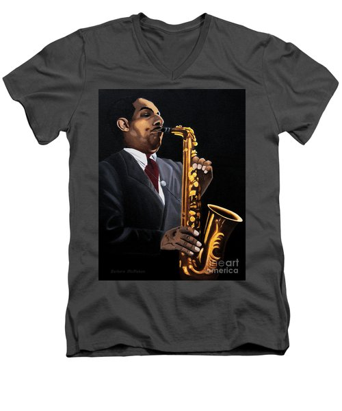 Johnny And The Sax Men's V-Neck T-Shirt