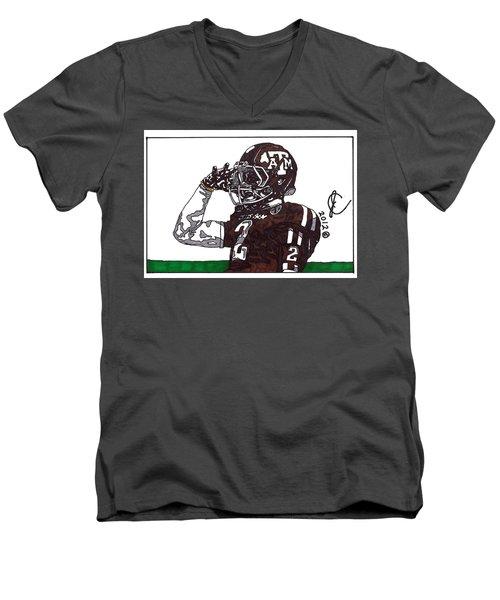 Johnny Manziel The Salute Men's V-Neck T-Shirt