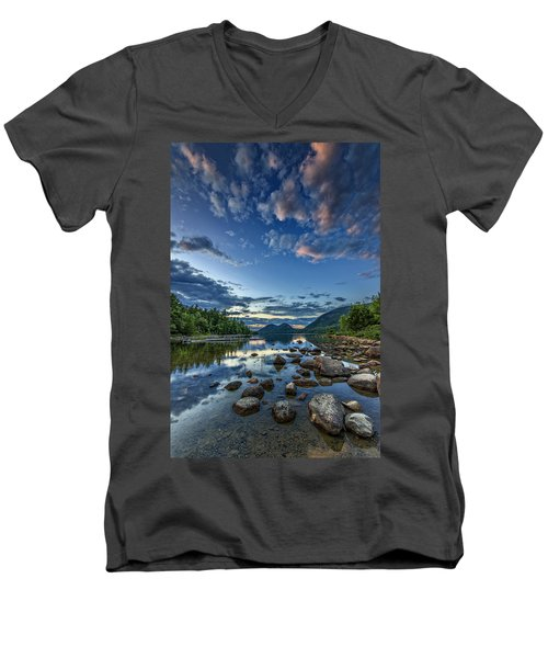 Jordan Pond Men's V-Neck T-Shirt