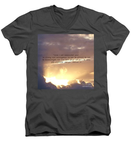 Joshua 1 Men's V-Neck T-Shirt
