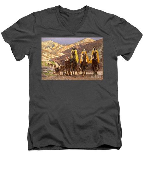 Journey Of The Magi Men's V-Neck T-Shirt