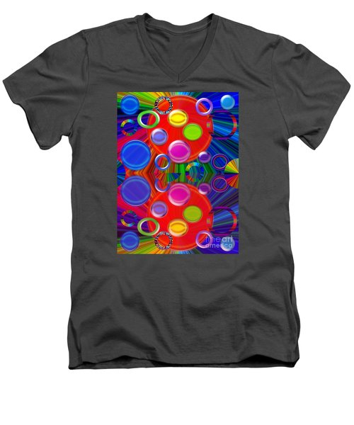 Men's V-Neck T-Shirt featuring the photograph Joyous by Tina M Wenger
