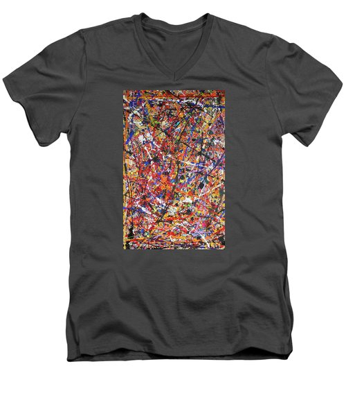 Men's V-Neck T-Shirt featuring the painting JP by Michael Cross