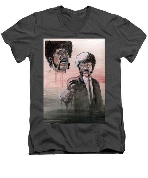 Jules Bamf Men's V-Neck T-Shirt by Jimmy Adams