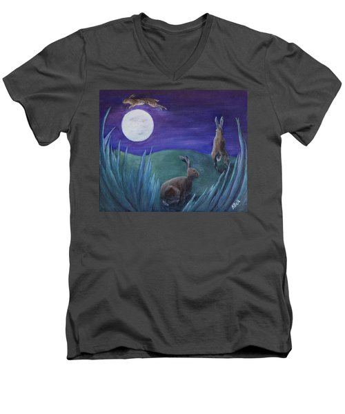Jumping The Moon Men's V-Neck T-Shirt