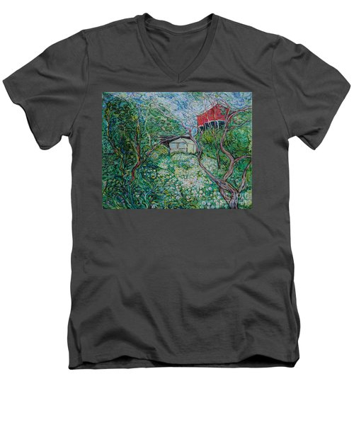 June Men's V-Neck T-Shirt