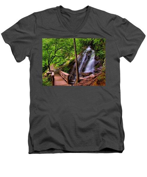 Juney Whank Falls Men's V-Neck T-Shirt
