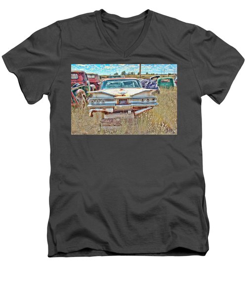 Junkyard Series 1960's Chevrolet Impala Men's V-Neck T-Shirt