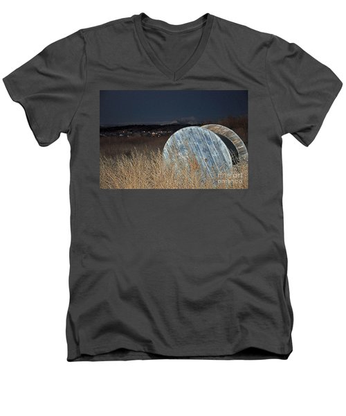 Men's V-Neck T-Shirt featuring the photograph Just Before Dawn by Minnie Lippiatt