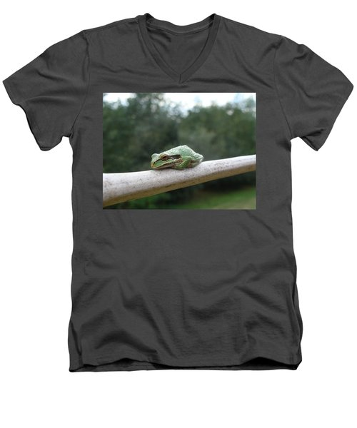 Men's V-Neck T-Shirt featuring the photograph Just Chillin' by Cheryl Hoyle