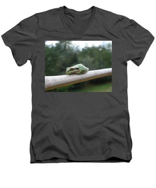 Just Chillin' Men's V-Neck T-Shirt by Cheryl Hoyle