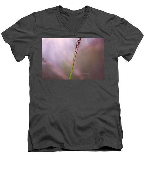 Men's V-Neck T-Shirt featuring the photograph Just Few Drops by Rima Biswas