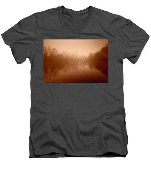 Just Fine Thanks Men's V-Neck T-Shirt