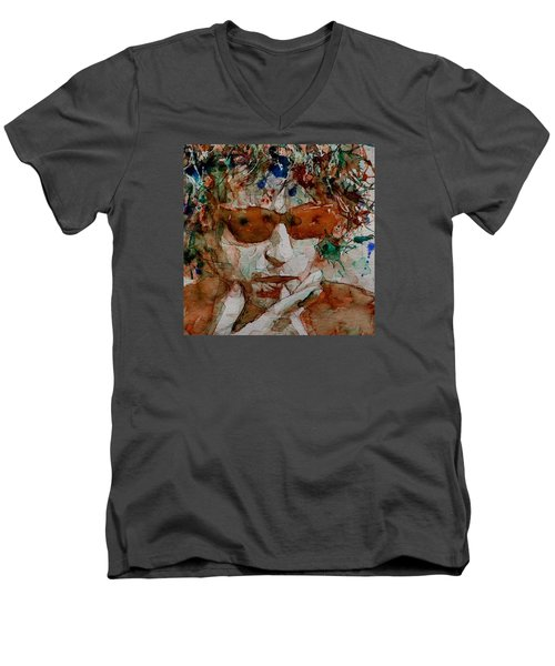 Just Like A Woman Men's V-Neck T-Shirt by Paul Lovering