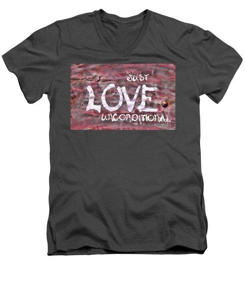 Just Love Unconditional  Men's V-Neck T-Shirt