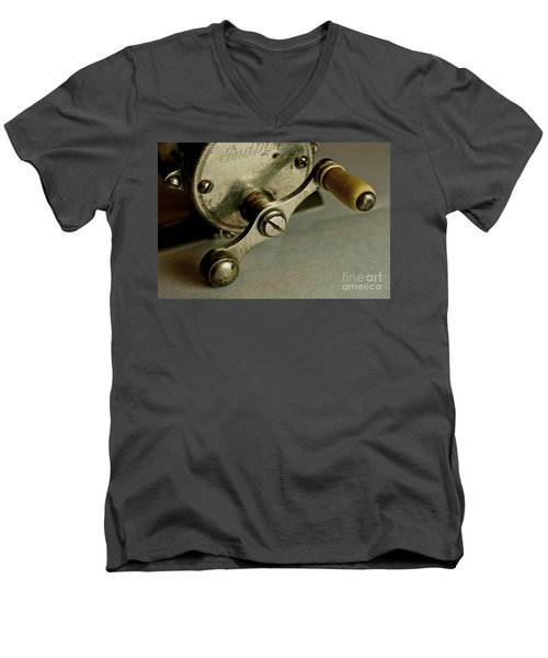 Men's V-Neck T-Shirt featuring the photograph Just Ride Out And Fish by Wilma  Birdwell