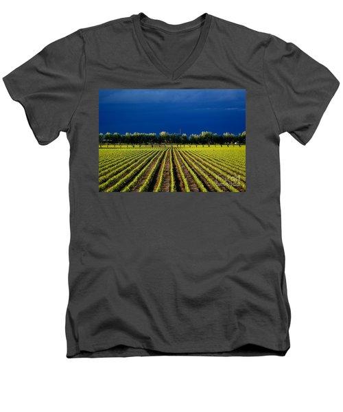 Just Starting Men's V-Neck T-Shirt by Steven Reed