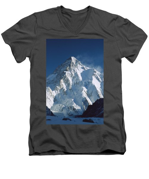 K2 At Dawn Pakistan Men's V-Neck T-Shirt