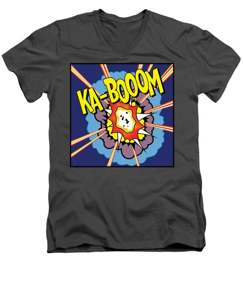 Ka-boom 2 Men's V-Neck T-Shirt