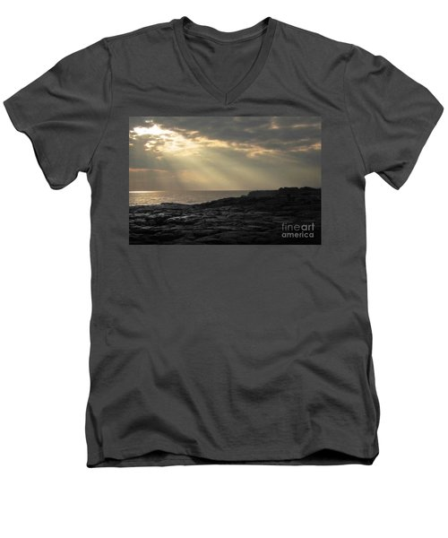Men's V-Neck T-Shirt featuring the photograph Kaloli Lani by Ellen Cotton