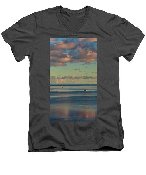 Kaneohe Bay Panorama Mural 4 Of 5 Men's V-Neck T-Shirt