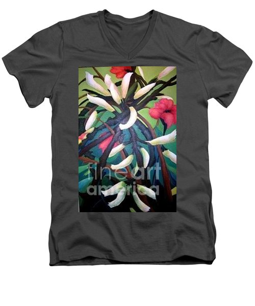 Kangaroo Paws Men's V-Neck T-Shirt by Glory Wood