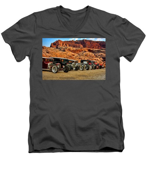 Kansas City Rat Rods And Hot Rods Men's V-Neck T-Shirt