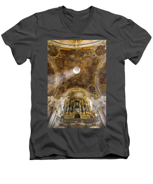 Kappele Wurzburg Organ And Ceiling Men's V-Neck T-Shirt