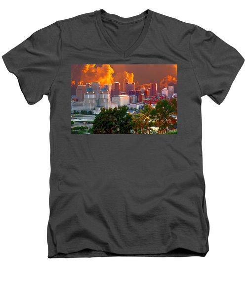 Katrina Storm Hits Cincinnati Men's V-Neck T-Shirt