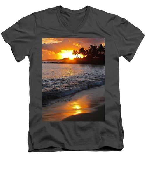 Kauai Sunset Men's V-Neck T-Shirt