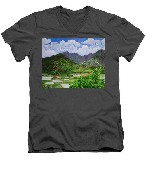 Kauai Taro Fields Men's V-Neck T-Shirt