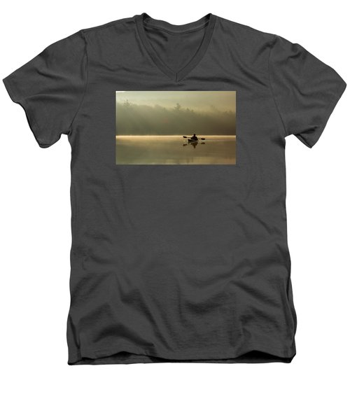 Kayaking At Sunup Men's V-Neck T-Shirt