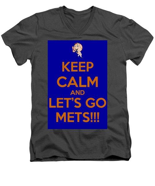 Keep Calm And Lets Go Mets Men's V-Neck T-Shirt
