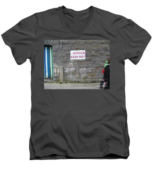 Keep Out Aran Islands Ireland Men's V-Neck T-Shirt