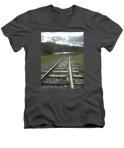 Keeping Track Men's V-Neck T-Shirt