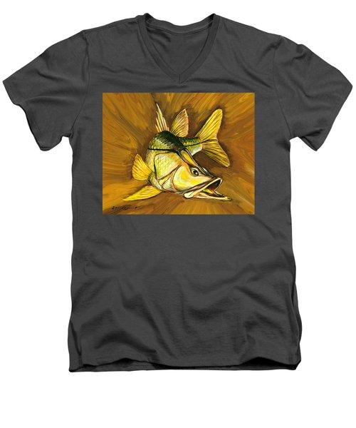 Kelly B's Snook Men's V-Neck T-Shirt by Steve Ozment