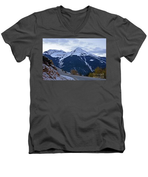 Kendall Mountain Morning Men's V-Neck T-Shirt